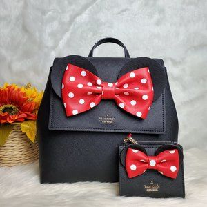 kate spade x minnie mouse backpack wallet combo